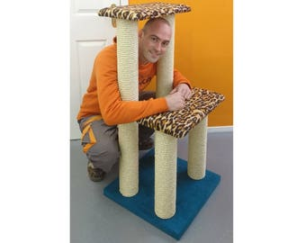 Large Luxury Twin Step Cat Climbing Frame | Cat Tree | Cat Scratching Post | Cat Furniture