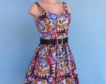 Wonder Woman Dress, DC comics dress, superhero dress, Comicon dress