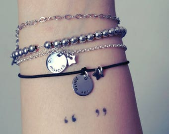 Tag bracelet • discreet message •