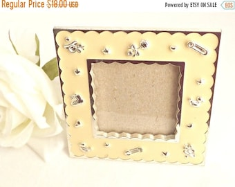on sale sheffield home picture frame nursery room picture frame vintage enamel picture frame nursery decor vintage nursery decor