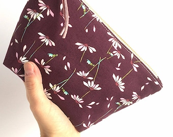 Floral Makeup Bag - Gift for Her - Make Up Bag - Floral Cosmetic Bag - Women's Birthday - Small Zipper Pouch - Best Friend Gift