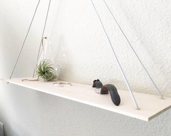Set of 2 Minimal Hanging Shelves - Made to Order