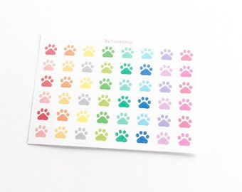 Paw Dog/Cat/Animal Foot Print Planner Stickers