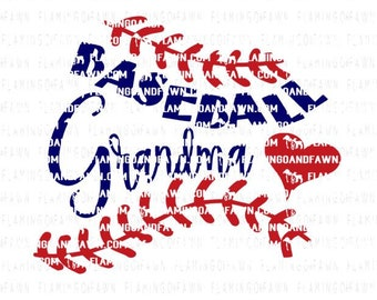 Baseball grandma svg, baseball nana svg, baseball grandma dxf, baseball svg, baseball dxf, svg baseball grandma, svg baseball, heart