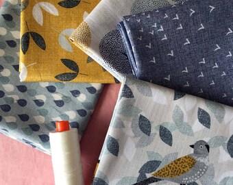 Dashwood Studio Birdsong 5 Fat Quarter Fabric Bundle