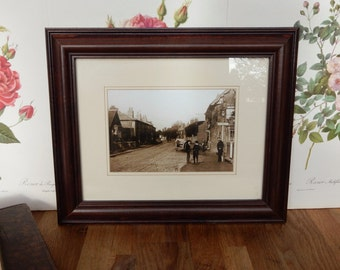 A lovely Vintage Picture in Frame, Shabby chic, Retro , boho, prop, old picture, Vintage picture.