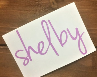 Name Decal - Custom Decal - Any Word Decal - Glitter Decal - Custom Decal - Word Decal - Car Decal - Tumbler Decal - Bridesmaid Decal