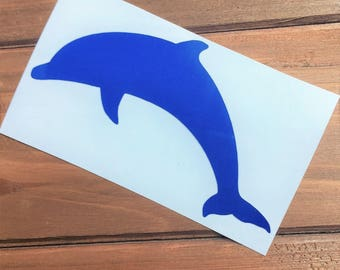 Dolphin Decal - Glitter Dolphin - Laptop Decal - Cell Phone Decal - Laptop Sticker - Car Decal - Tumbler Decal