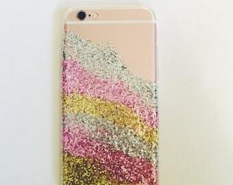 Geode Inspired Glitter iPhone 6s case