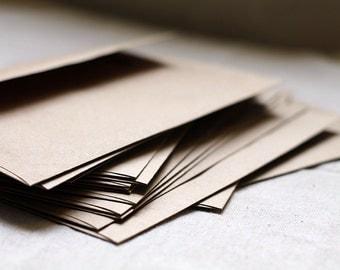 "SALE - BULK! 100 A7 Kraft Envelopes - 5x7 inches (true size 5 1/4"" x 7 1/4"") Kraft Brown Recycled Envelope - Wedding Envelopes"