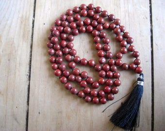 Kundalini Red Jasper Mala