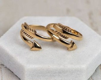 Heaven Sent Silver Angel RingBronze Chiko Arrow Ring