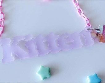KITTEN Lilac Necklace (Made to Order)