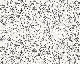 KNIT: Art Gallery Corollas Ashen Cotton Lycra Knit Fabric. Sold by the 1/2 Yard