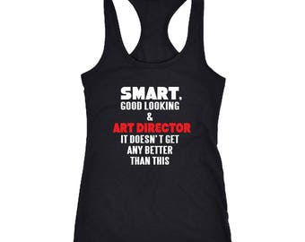 Art Director Racerback Tank Top T-Shirt. Funny Art Director Tank.