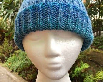 Soft Wool & Acrylic Ocean Blue Cap