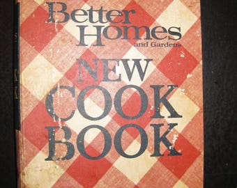 BHG NEW Cook Book, Checkered  Cover 3 Hole Binder,  Vintage Cookbook