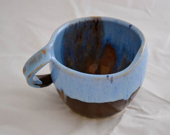 Light Blue and Spice Brown Cups