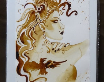 Showgirl coffee art