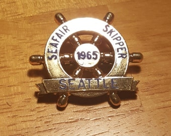 "1965 Seattle Seafair golden ""skippers"" pin"