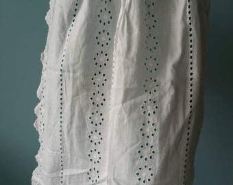 Beautiful lace apron! Brocante kitchen apron # 4