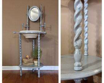 Antique Wood Washstand / Antique Wash Stand / Wash Basin / Antique  Washstand / Farmhouse Furniture