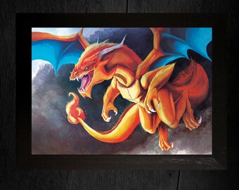 A3 Pokemon Print - Charizard