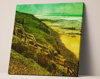 Wooden path - canvas on stretcher - fine art print - photo printing
