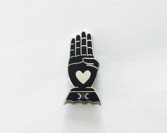 New! VICTORIAN HAND PIN
