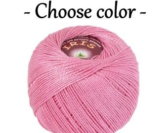 Mercerized cotton Cotton yarn Iris vita cotton Crochet thread Embroidery thread Crochet cotton yarn Knitting supplies Summer yarn