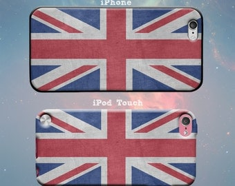 Vintage British Flag Union Jack United Kingdom UK Flag Rubber Case for iPhone 7 6s 6 Plus iPhone SE 5s 5 5c iPod Touch