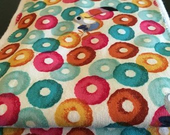 Fruit Loops cloth diaper!!! Set of two cloth diaper burp cloths featuring fruit loops!