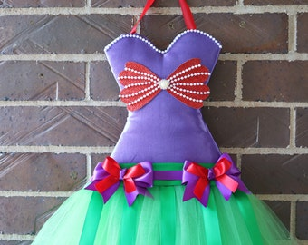 Mermaid tutu bow holder. Hair clip holder. Girls bow holder. Customized tutu bow holder. Cute Christmas, birthday, baby shower gift