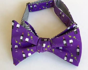 Wine Bow Tie - 2 colors