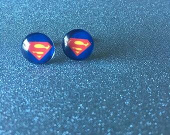 Superman Earrings - Comic Hero Earrings
