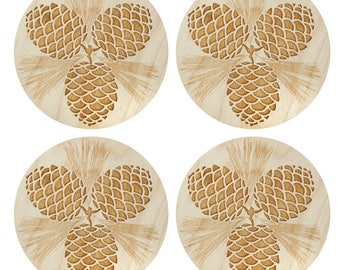 Pinecone Coasters | Laser Cut | Made in Maine