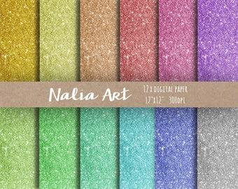 Buy 3 for 9 USD - Digital paper Background Glitter, Glitter Border, Confetti Border, Gold, Silver, Invitation, Party INSTANT DOWNLOAD