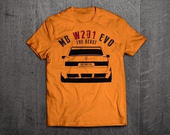 Mercedes Benz shirts, Benz W201 t shirts, classic benz, Cars t shirts, men tshirts, women t shirts, MB EVO shirts, bikes shirts, cars decal