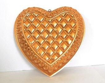 Copper Aluminum Heart Shaped Jello / Cake Mold