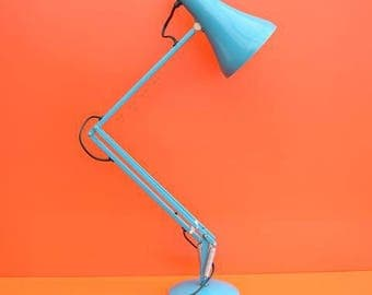 1970s turquoise Herbert Terry anglepoise lamp