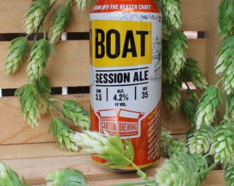 Carton Brewing Boat Upcycled Beer Can Candle. 100% Soy Wax. 16 oz. Craft Beer Gifts Groomsmen Gifts Housewarming Gifts Birthday Gift