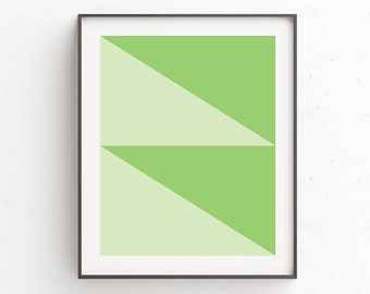 Printable Green Art, Abstract Art, Minimalist, Geometric Print, Green Wall Art Decor, Geometric Art, Geometric Wall Art, Green Print Art