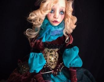OOAK Polymer Clay Doll COLOMBINA Colombina