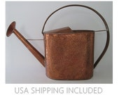 Huge Vintage Oval Watering Can Hand Made Hand Hammered Copper