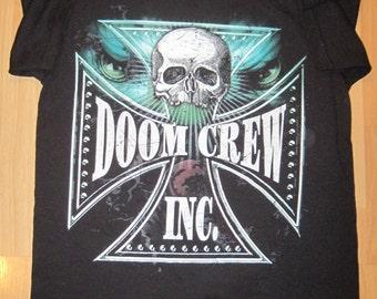 Rare BLS Black Label Society DOOM CREW Shirt Sz Medium Zakk Wylde