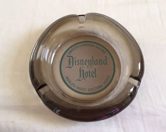 Vintage Disneyland Hotel Glass Ashtray