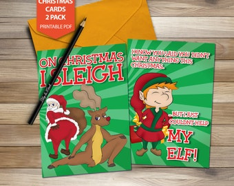 FUNNY CHRISTMAS CARDS A4 printable download last minute
