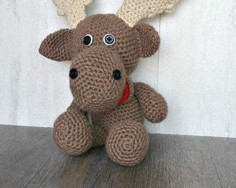 Crochet Moose - Stuffed Moose - Woodland Animals - Moose Toy - Moose Nursery Decor - Amigurumi Moose - Woodland Creatures - Woodland Nursery