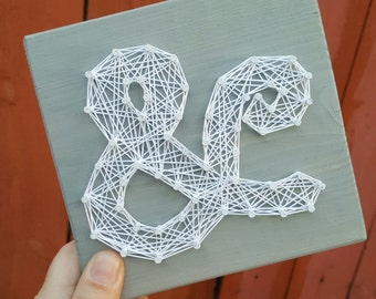 Mini Ampersand String Art Made to Order Home Decor