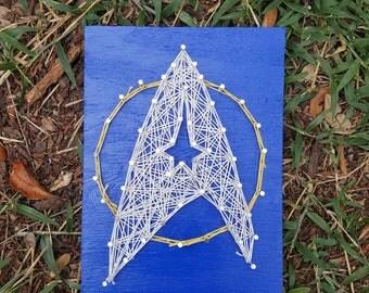 Star Trek String Art Made to Order Home Decor